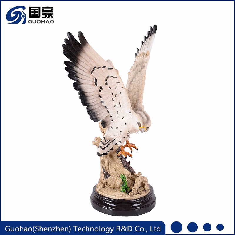 Custom resin garden statues large eagle producer