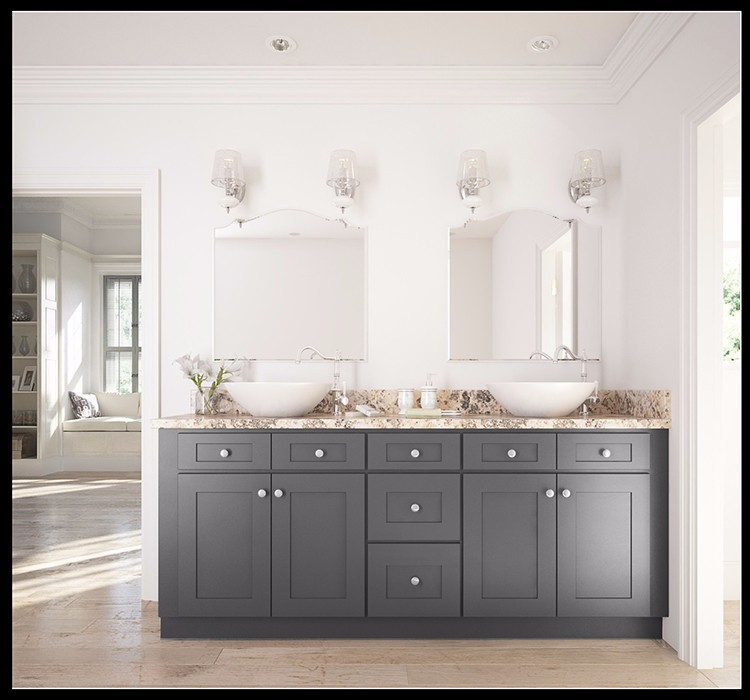 w marble shaker views bathroom cabinet more drawers vanity grey top cabinets white