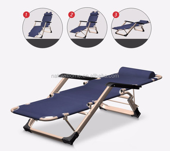 High Quality Folding Beach Bed OX Fabric Sun Loungers Foldable Beds Chair