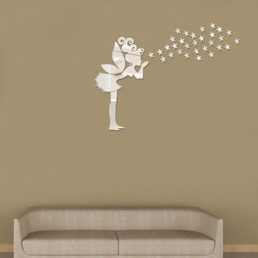 Angelo Magia Delle Fate & Stelle 3d Specchio Wall Sticker Per ...