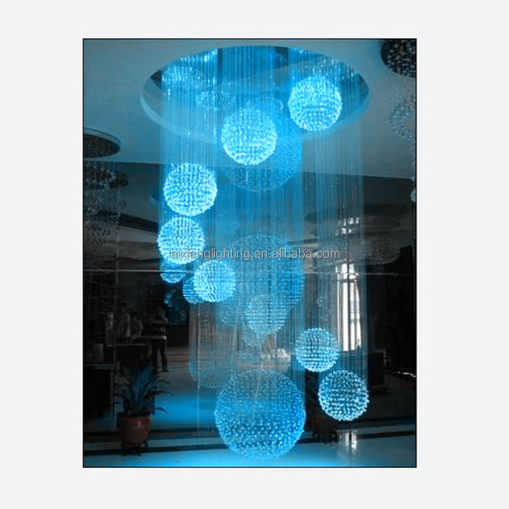 7 Color Changing Big Led Fiber Optic Light Ball For Decoration ...