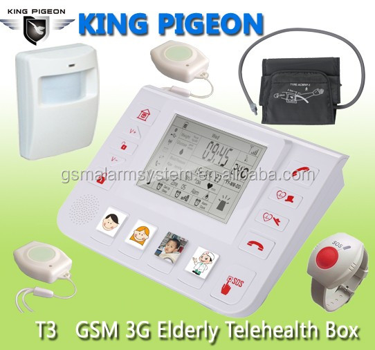 Elderly Health Care Products ,Emergency SOS Help Button,Alone Living Elderly Home Guardian with temperature LCD display