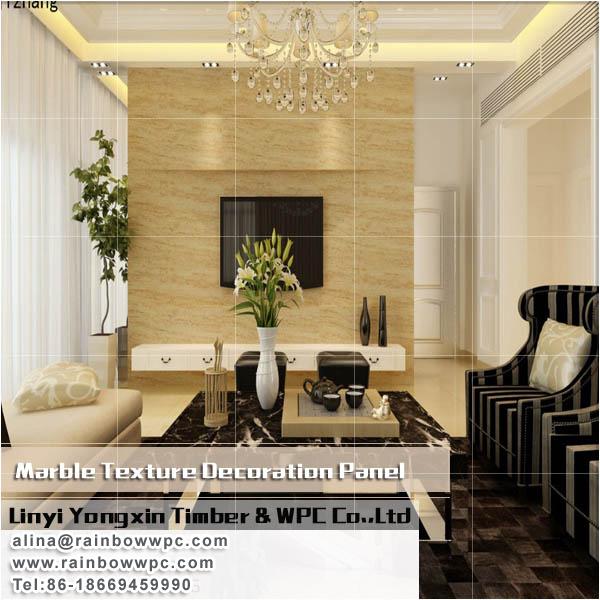 Imitatie marmer voor binnen huis villa hotel decoratie gebruik wpc muurpaneel decoratie - Villa decoratie ...