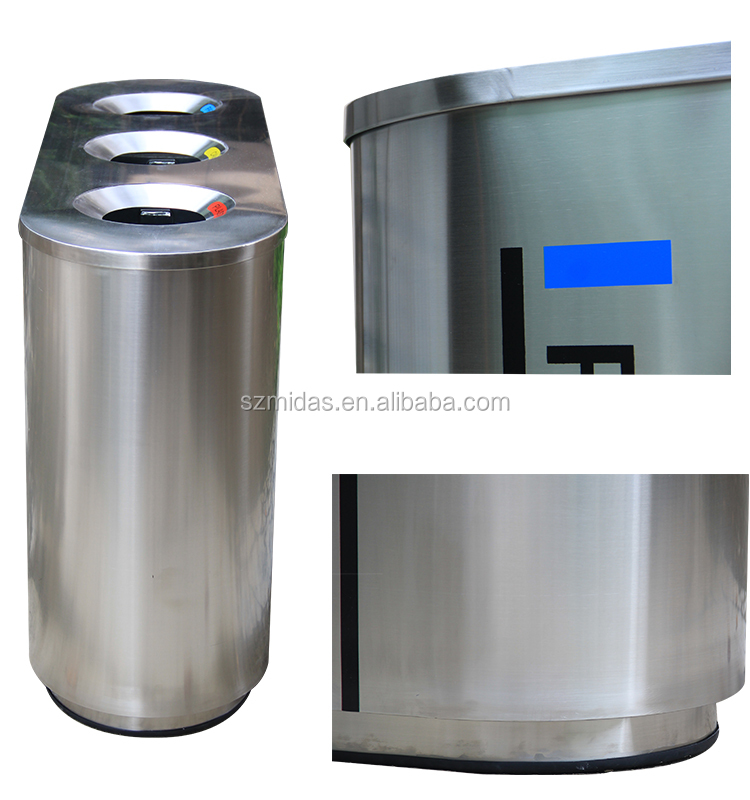 Max Airport And Station Indoor Classified Rubbish Dust Bin