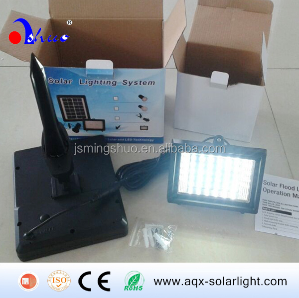 Mini 3W Solar Panel Flood Lights for Garage and Parking lots