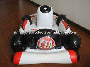 pvc plastic inflatable kart for wii, pvc inflatable kart toys
