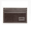 Black Leather Slim Credit Card Carrier Wallet