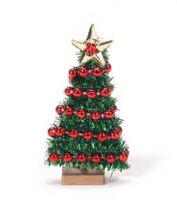 Package of 12- Finished and Decorated Mini Christmas Trees for Crafts and Creating