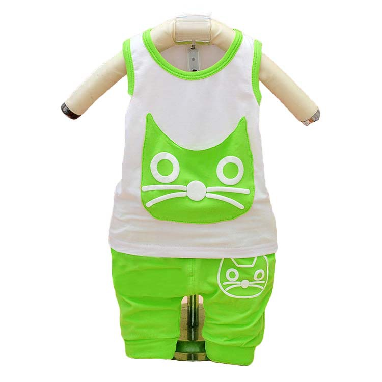 fbdafa8b340d Buy 0-24 Months cat summer newborn boys clothes set 1 year baby boy ...