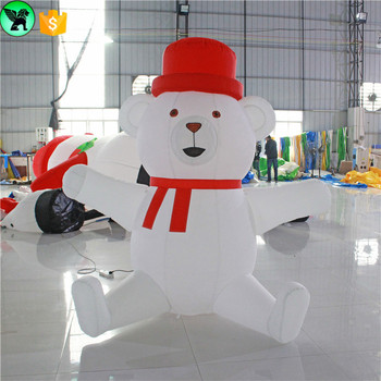 Outdoor Decoration Inflatable Animated Polar Bear Christmas