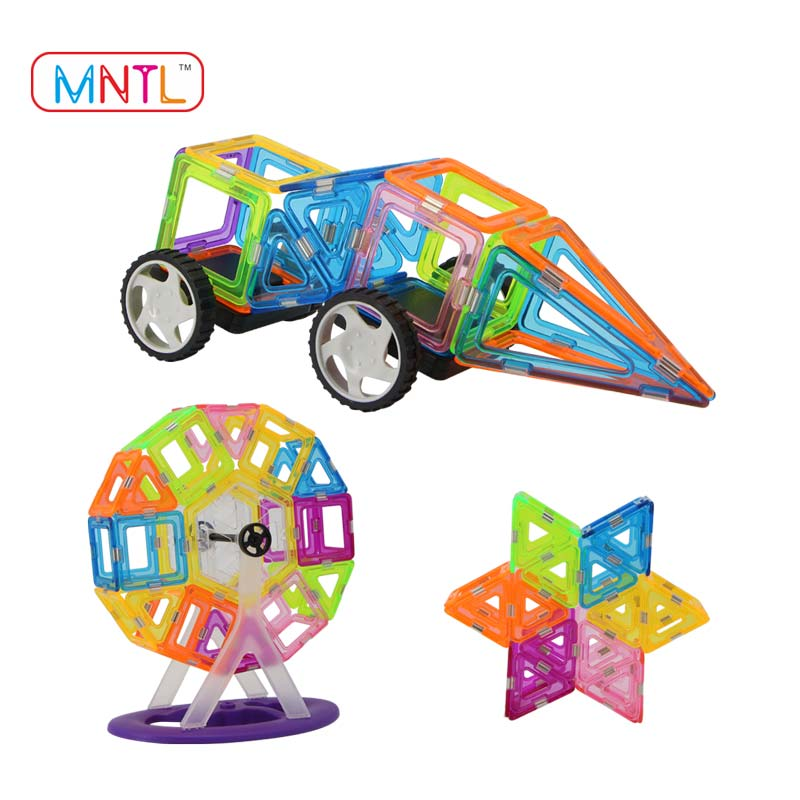 MNTL-Popular sale 119 Pieces abc magnet building tiles clear magnetic creative building 3d right brain education toys