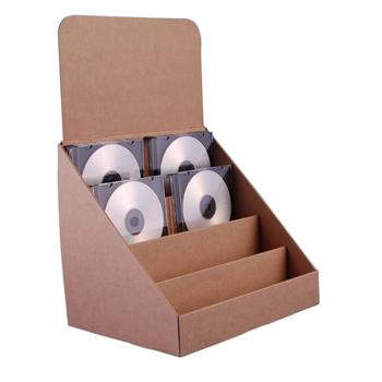 Cardboard Cd Countertop Display Paper Floor Rack For Dvd
