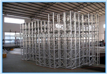 Aluminum truss system, aluminum spigot truss outdoor stage truss with curved