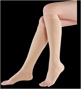 Compression Stockings for Varicose Veins Below Knee Class 2 Open Toe