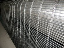 Architectural metal fabrics building material