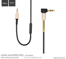Hoco UPA02 Handy AUX <span class=keywords><strong>Audio</strong></span>-<span class=keywords><strong>kabel</strong></span> Frühling für Smartphones Tablets Mp3-player mit Mic Funktion