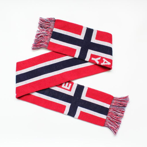 100% acrylic knitted jacquard soccer scarf Europe football scarf