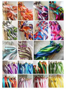 Wedding Favor Ribbon Sticks Wands With Bells