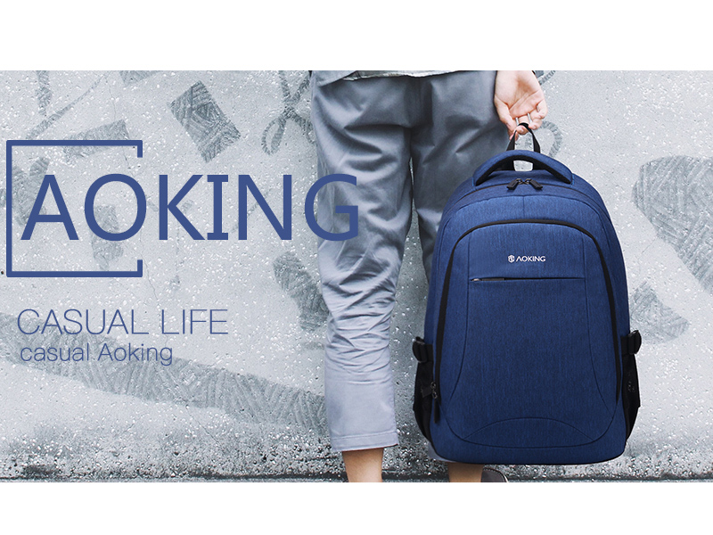 Aoking Men Backpack For 17 Inch Laptop Backpack Waterproof Travel
