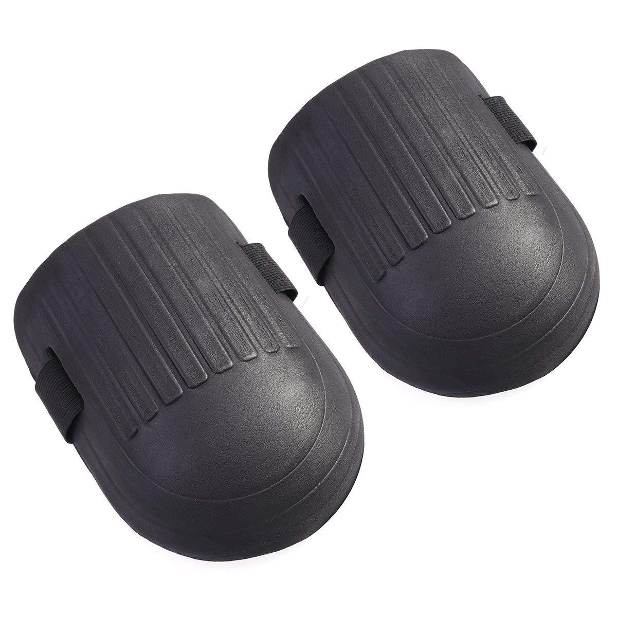 BESTOMZ 1 Pair Gardening Protective Gear Soft Knee Pads with Waterproof EVA Foam Cushion Soft Inner Liner (Black)