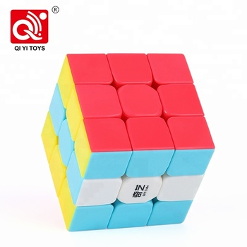 Puzzles brain plastic 56mm 3x3 color cube toys qiyi warrior for beginner