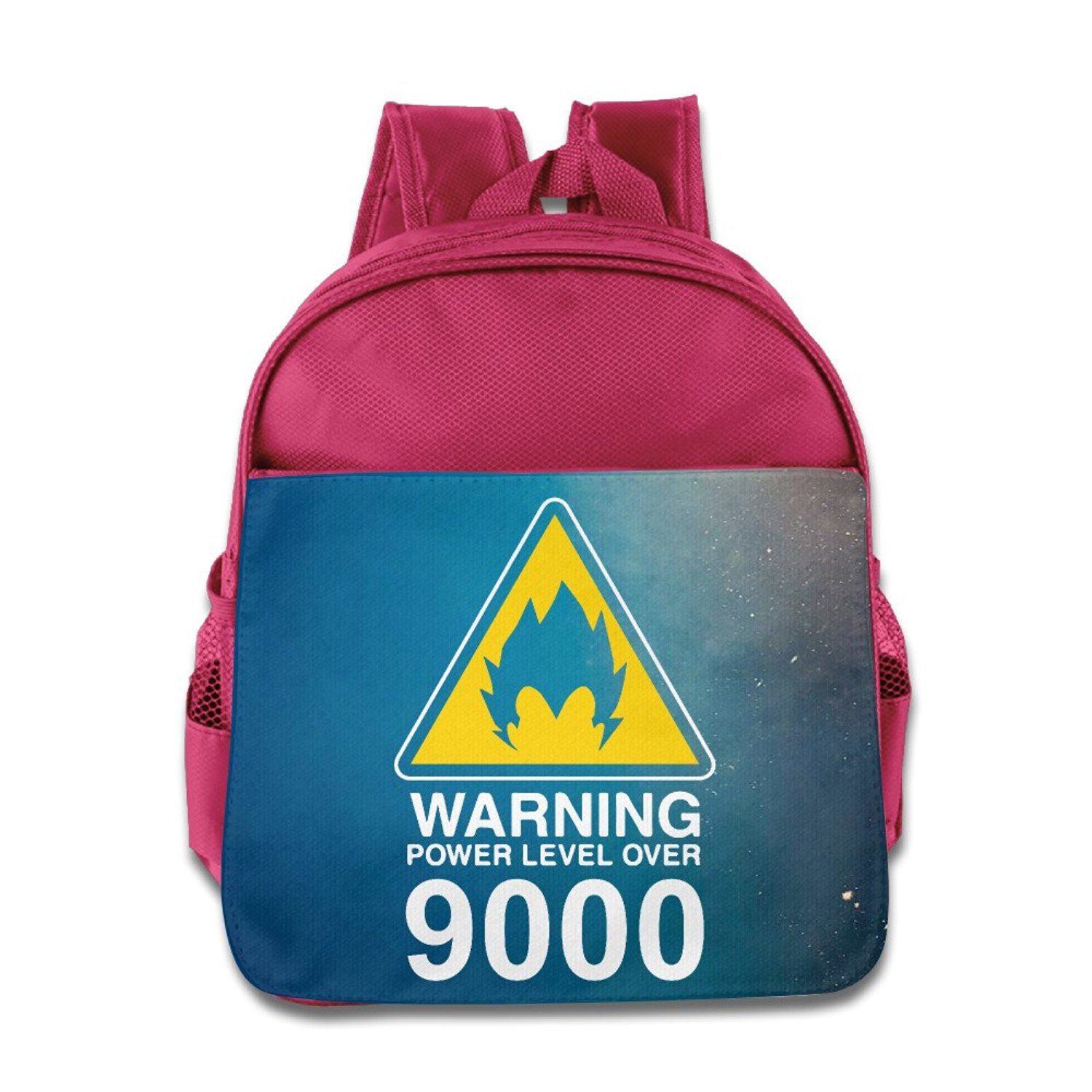 45a86759b3df4 Get Quotations · NaDeShop Warning Power Level Over 9000 Dragon Ball Kids   School Backpack Bag