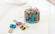Custom Colorful Metal Binder Clips 1.5cm Notes Letter Paper Clip