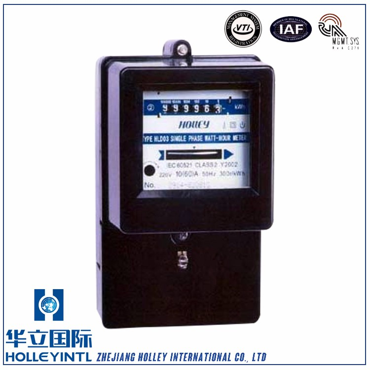 Unidirectional jumping type register or reverse running stopper is available upon request single phase Active Wattmeter