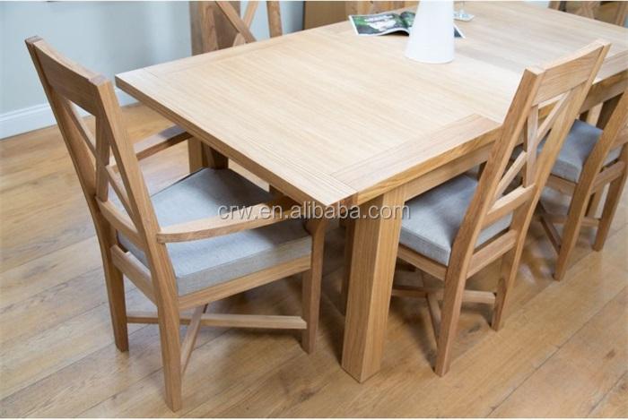 DT40061 roble macizo muebles mesa comedor de extensiónMesas de