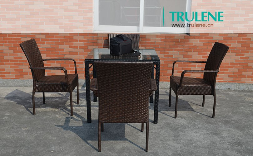 Aluminum Frame Outdoor furniture Rattan Furniture Coffee table Set With 4 Chairs outdoor furniture garden