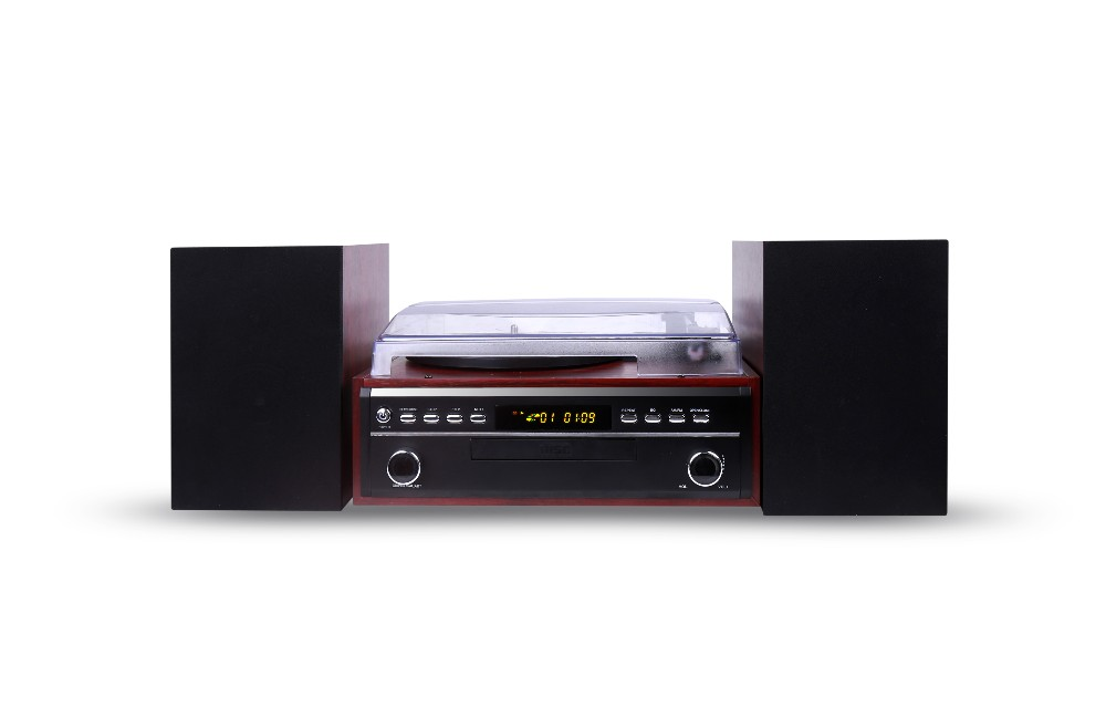 High Quality Leather Vinyl Record Player With Bluetooth