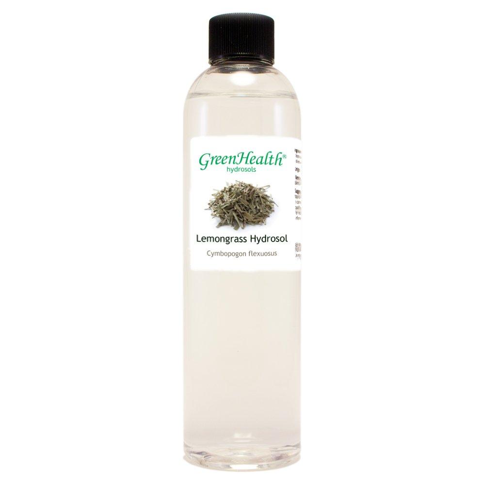 Lemongrass Hydrosol - 8 fl oz Plastic Bottle w/ Cap - 100% pure, distilled from essential oil