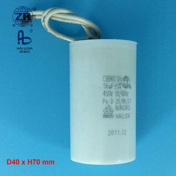 Cbb60 Kondensator 450vac En60252-1 16 Uf Mit Draht Elektromotor ...