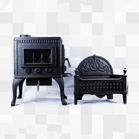 Multi-functional cast iron wood fire burning stove