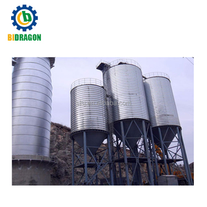 Spiral fly ash silo steel silo flat bottom silo with high quality