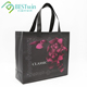 Custom Black Eco Organic Standard Size Tote Carry Canvas Cotton Cloth Shopping Bag