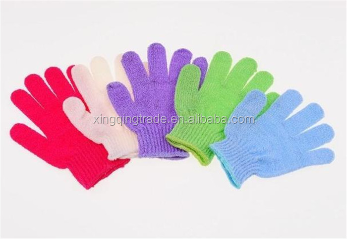 Shower Bath Gloves Exfoliating Wash Skin Spa Massage Body Scrubber Cleaner