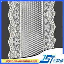 New york wholesale wide nylon trim lace for white lace knee length dress