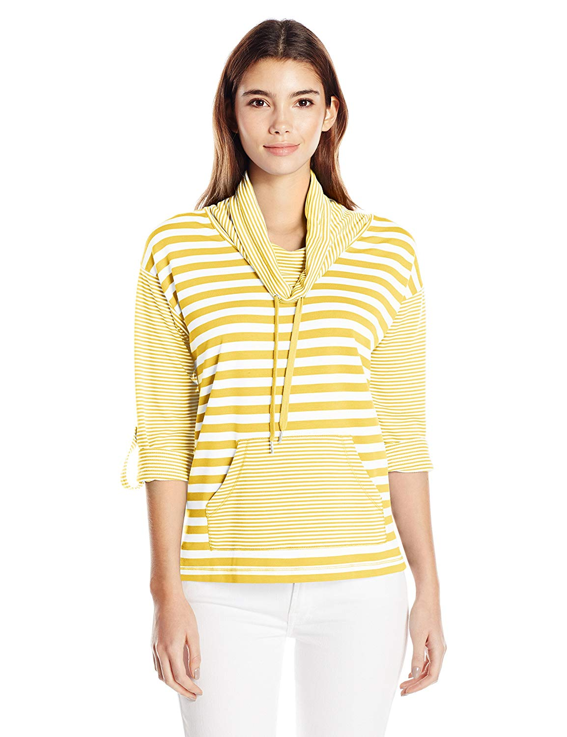 272551ea8f8 Get Quotations · Ruby Rd. Women's Cowl Neck Silky French Terry Pullover