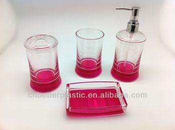 Simple Fashion Clear Bathroom Set Plastic Accessories