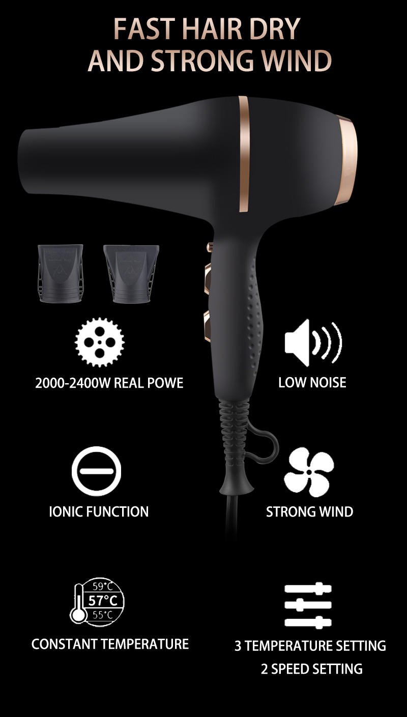 Hottest blow dryer lightweight infrared ionic professional 1875 hair dryer