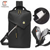 Hot selling oem logo new sports mens nylon chest shoulder bag fashion cross body sling unisex chest bag