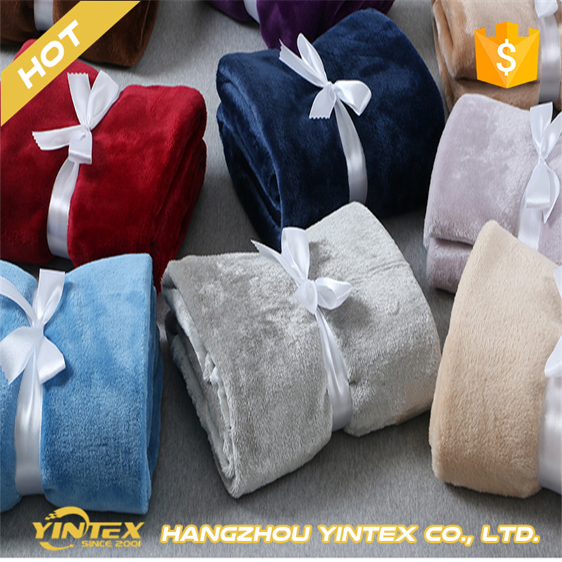 Yintex cheap wholesale soft coral fleece blankets in bulk/fleece blanket