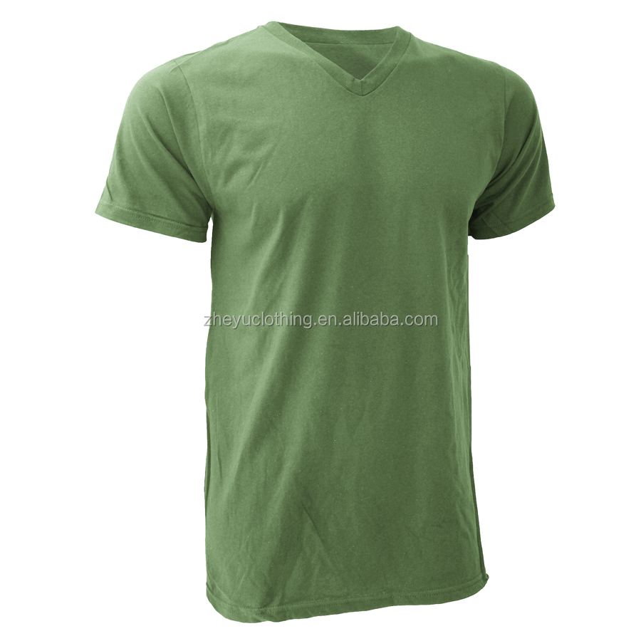 Hot sale 100 % cotton v neck t shirt mens 180gsm v-neck blank tee mix size and colors