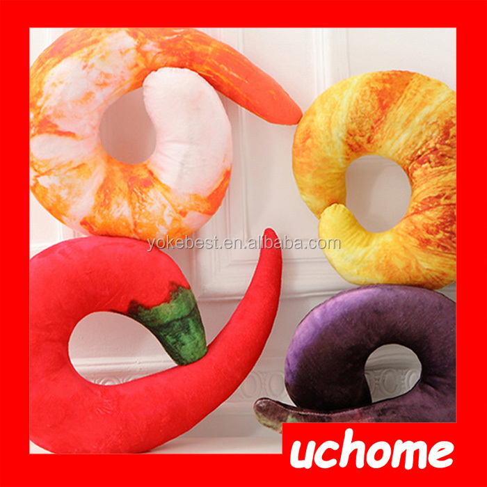UCHOME Creative Funny Shrimp Shaped Pillow U Throw Neck pillow