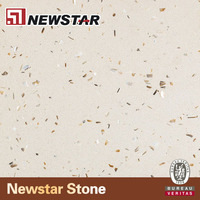 NQ2028P--Newstar pacific Crystal Shell beige quartz composit quartz slab /countertop