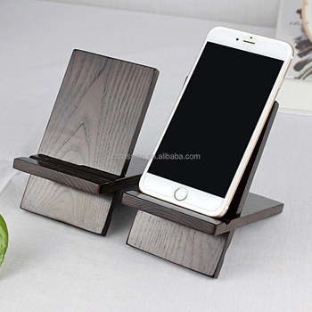 Superb Modern Cell Phone Holder Wood Stand Mobile Phone Stand For Office Gift