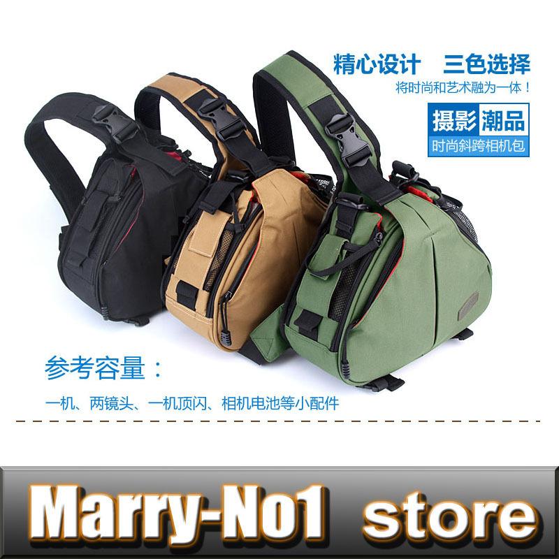 Caden K1 Waterproof  Camera Bag Case Messenger Shoulder Bags Triangle Carry