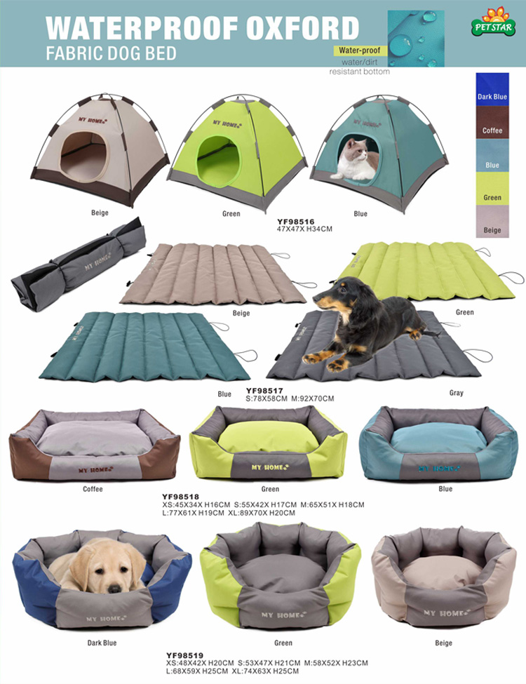 Manufacture Sale Customized Washable Waterproof Dog Bed Outdoor Fabric