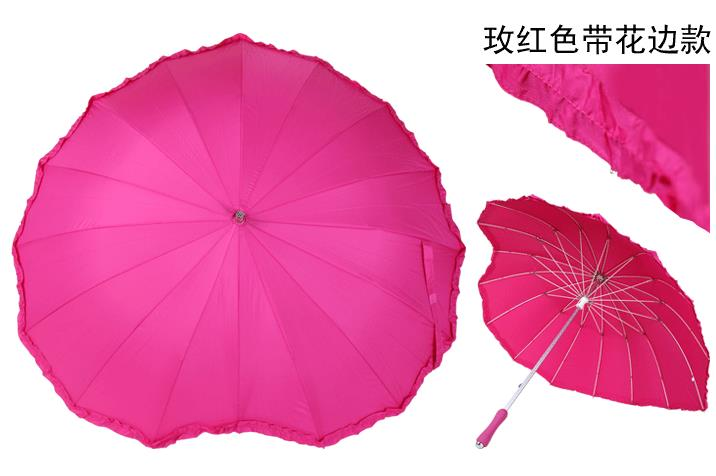 Wholesale Price with Stock and Small order Red heart umbrella Wedding umbrella